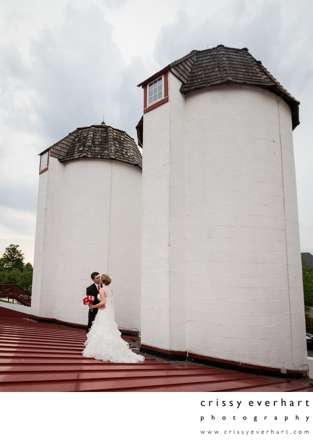 Normandy Farms Silos and Red Roof - Blue Bell Wedding