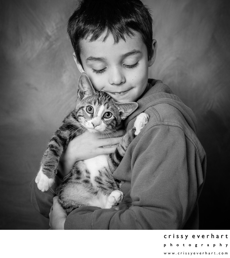 Kids with Pets - Studio Portraits