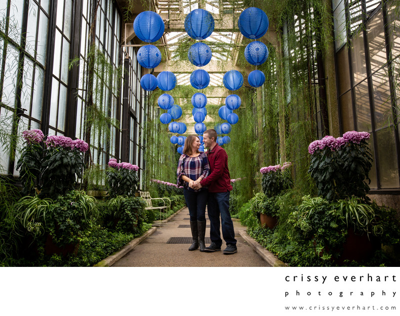 Colorful Longwood Gardens Engagement Session Photos