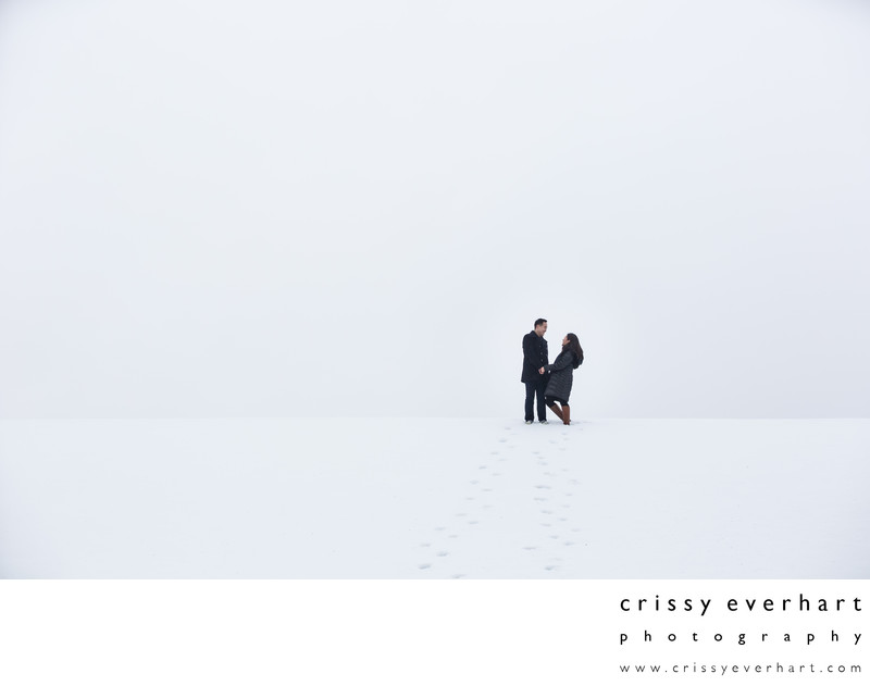 West Chester Engagement Photographer - Snowy Photos