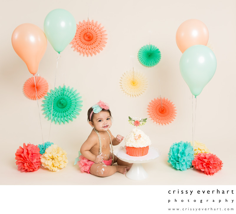 First Birthday Cake Smash - Pretty Pastels