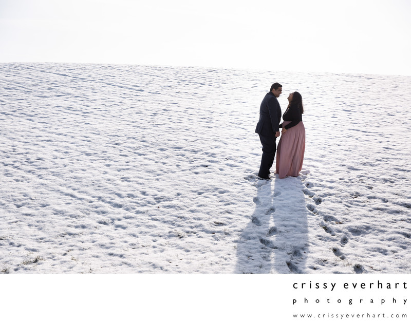 Chester County Maternity Session in the Snow