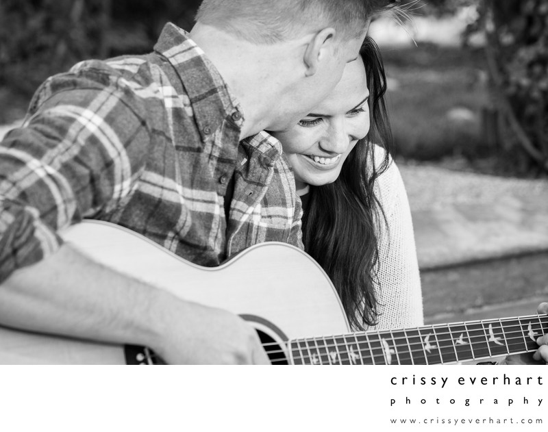 Chester County Engagement Session with Guitar