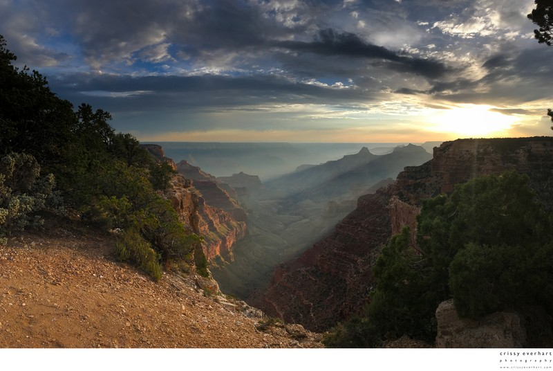 Grand Canyon North Rim at Sunset - iPhone Pano