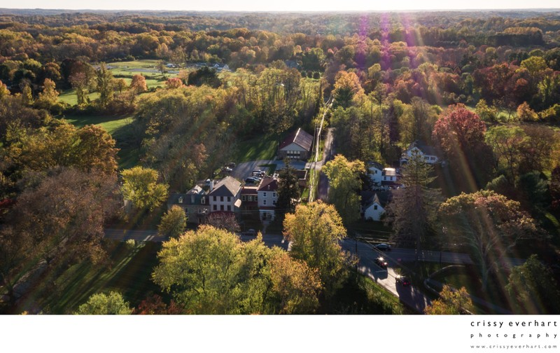 Aerial view of Historic Sugartown in Chester County