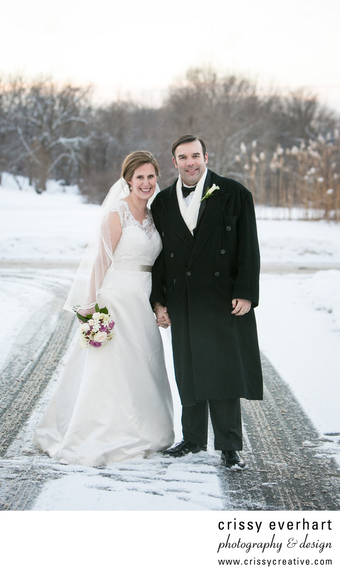 Kimberton Inn Snowy Wedding Day in Chester County