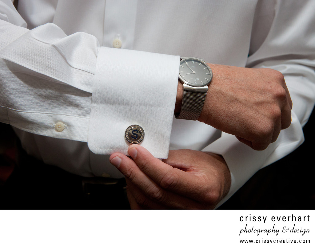 Wedding Day Details - Groom's Watch and Cuff Links
