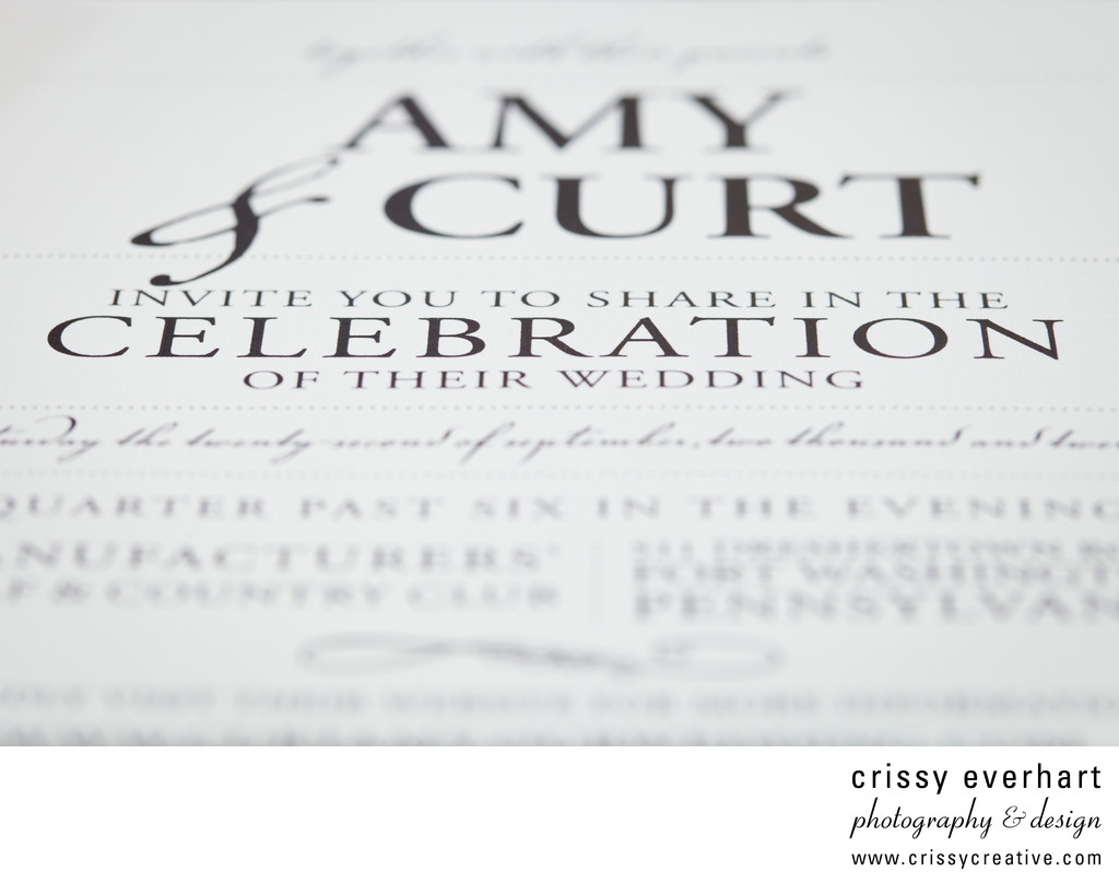 Invitation Close-Up - Wedding Photography Details