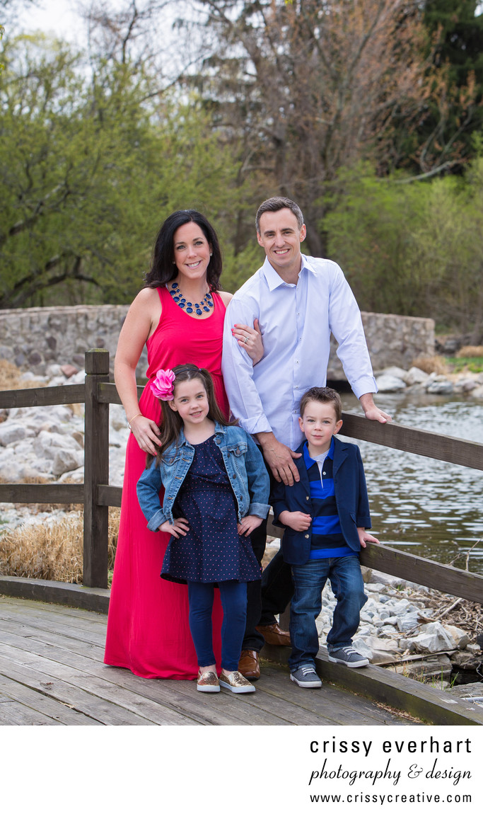 Spring Family Portrait Session in Blue Bell park