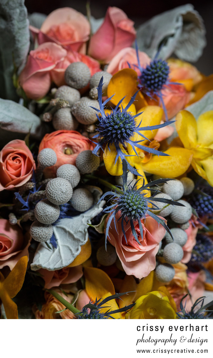 Colorful Bouquets in Chester County Wedding
