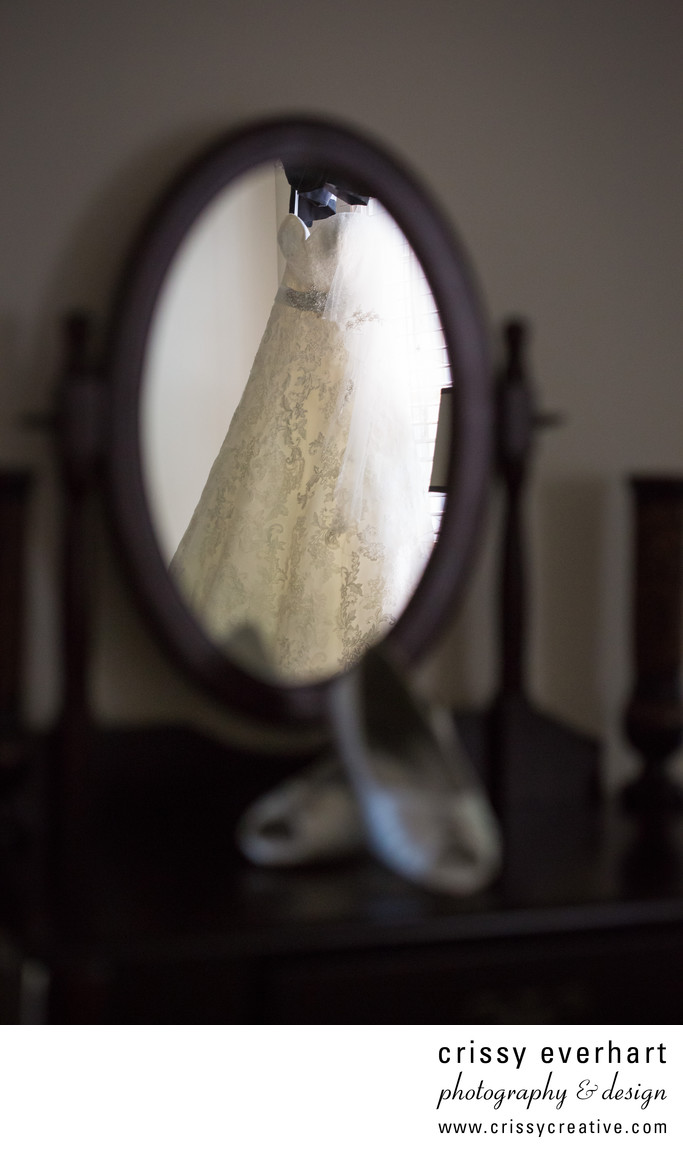 Downingtown Wedding Photographer - Dress Reflection