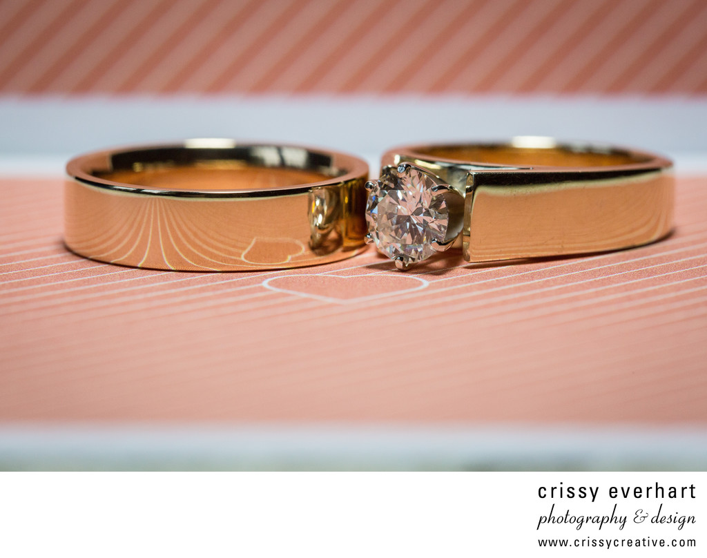 Philadelphia Wedding Photographer - Rings on Invite