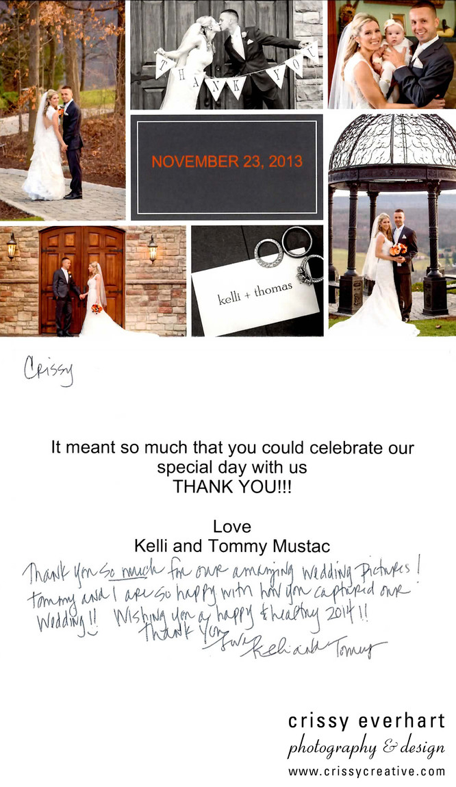 Stroudmoor Country Inn thank you note
