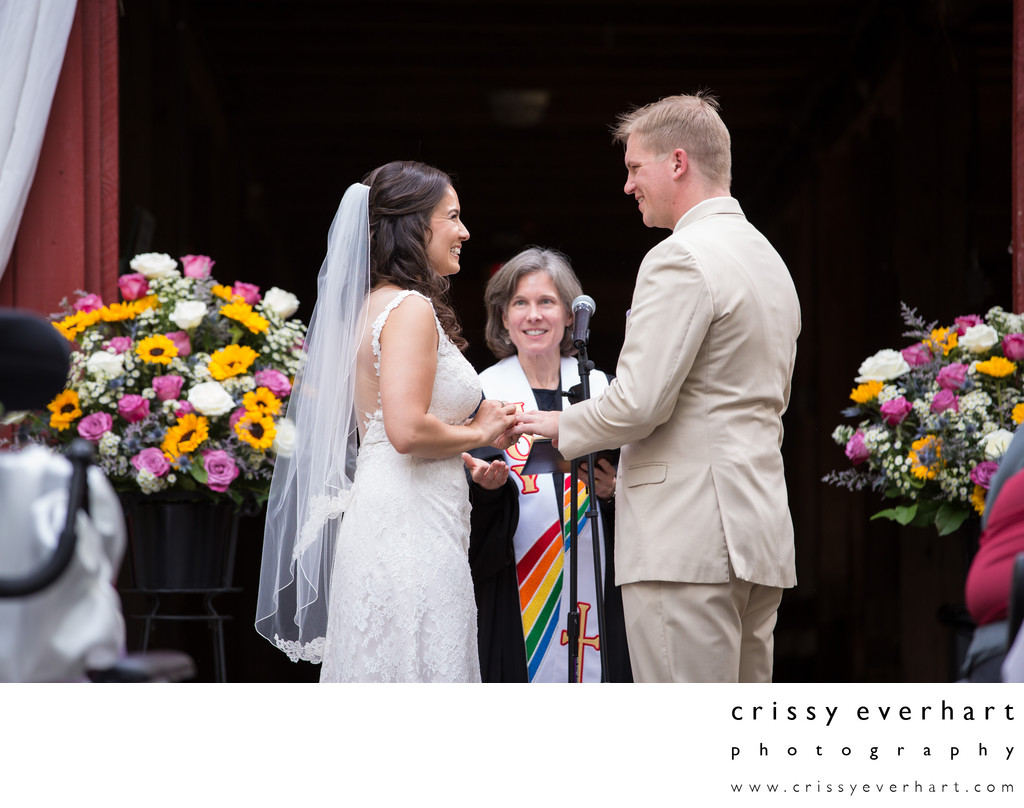 Elmwood Park Zoo Wedding - Exchanging Vows and Rings