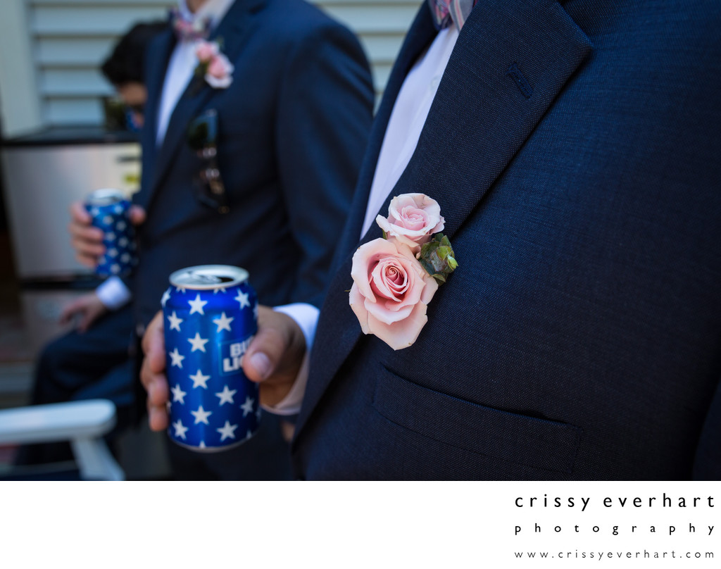 Groomsmen Details - Beers and Boutonnieres