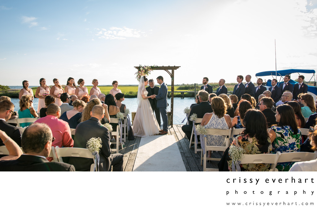 Maritime Museum Dock Wedding Ceremony on Long Island