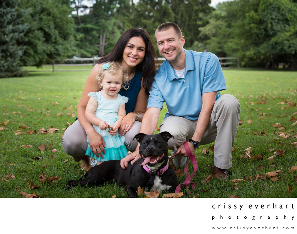 Family Portraits with your Dog in Malvern, PA