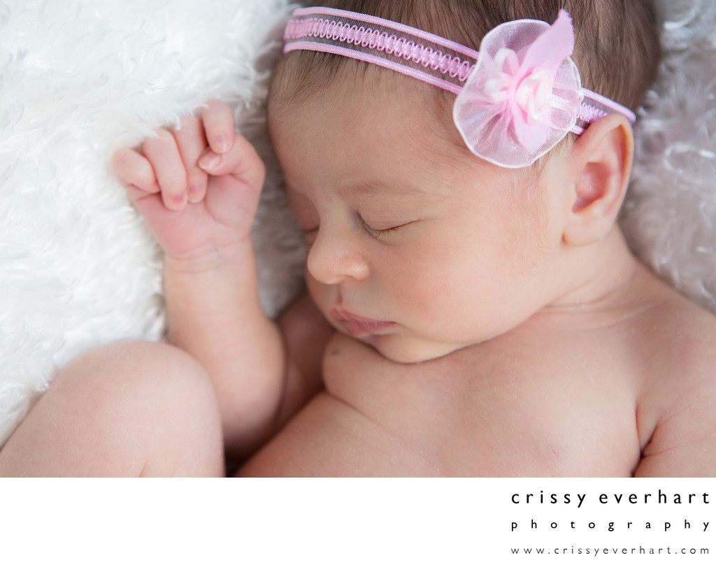 Studio Newborn Session - Berwyn Photographer