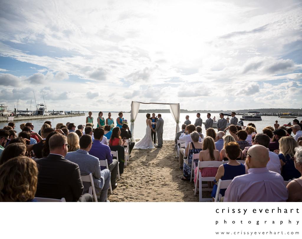 Dewey Beach Wedding Ceremony In Delaware