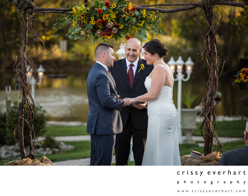 Manor House at Prophecy Creek- Fall Wedding by Pond