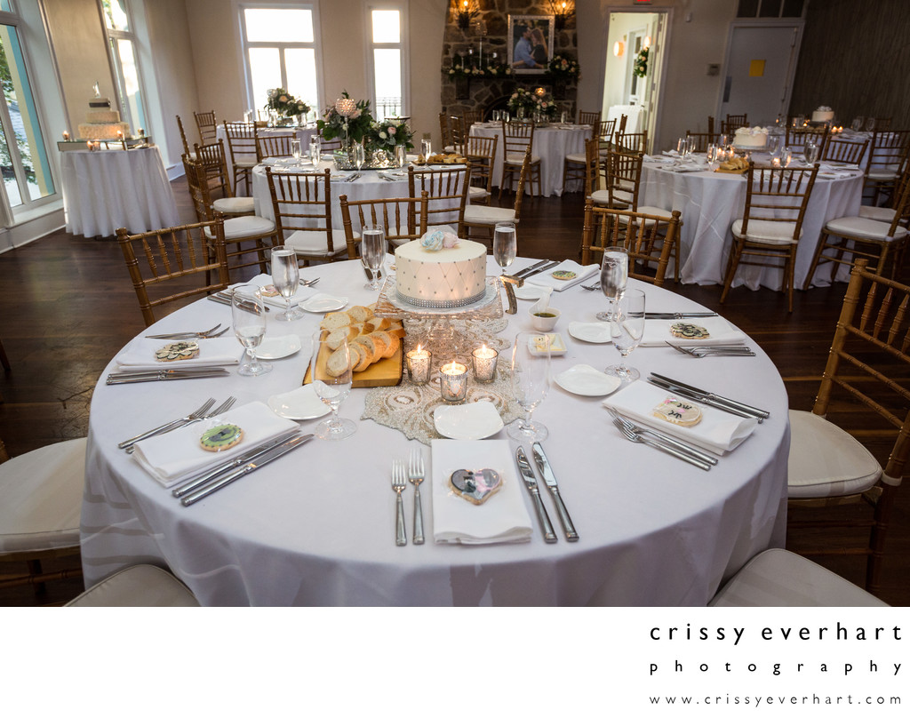 Pomme Wedding Reception Table Set-Up in Radnor, PA