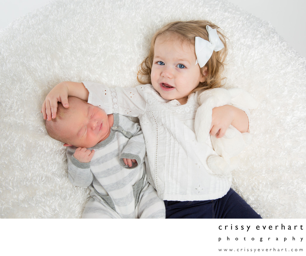 Toddler and Newborn Portrait Session