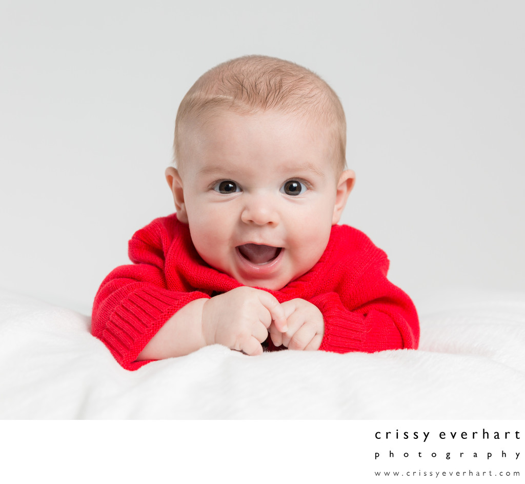 Malvern Photographer - Four Month Old Studio Portraits