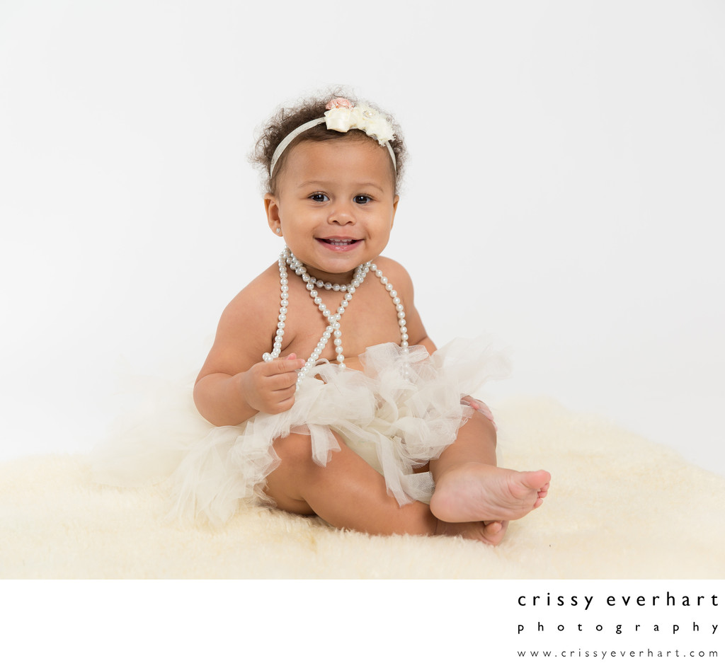 First Birthday Studio Portrait Sessions - Girl in Tutu