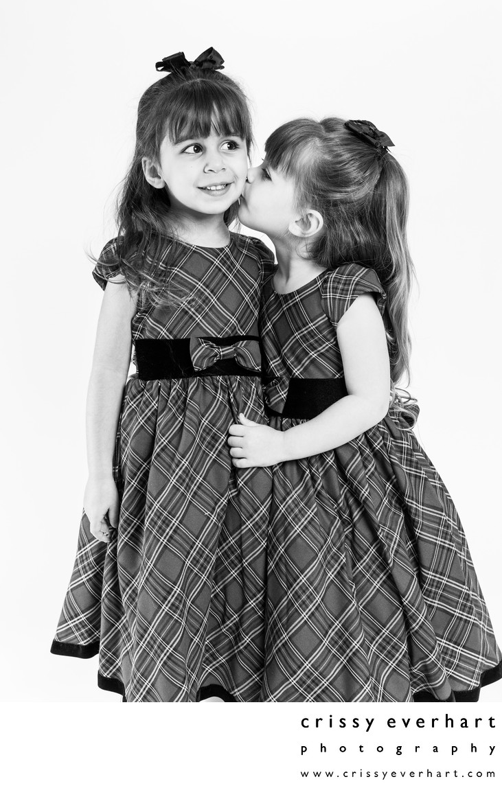 Studio Photographer - Twin Sisters Portrait