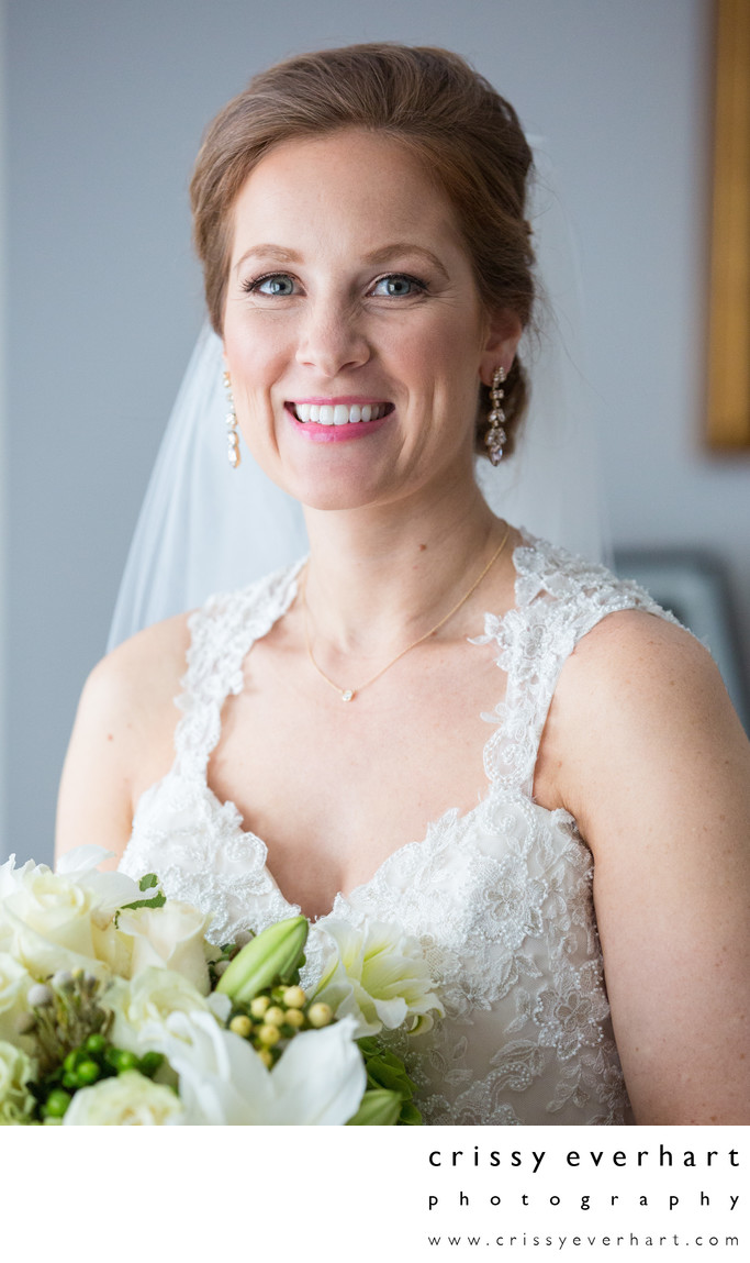 Window Light Bridal Portrait in West Chester