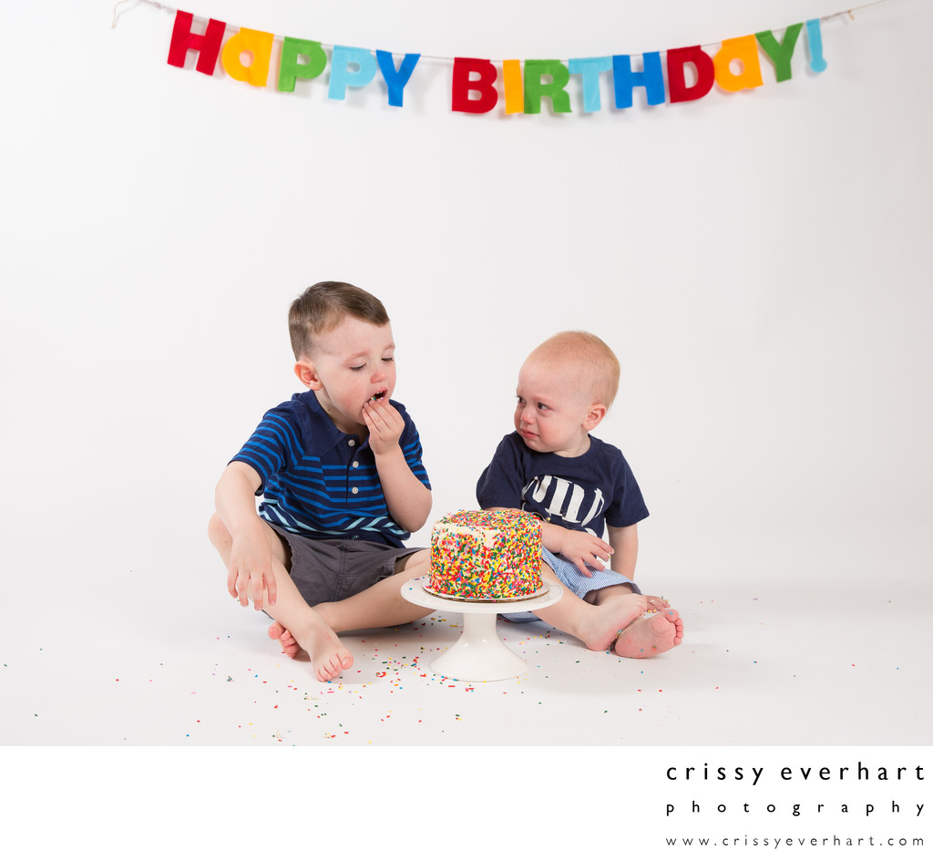 Big Brother Steals the 1st Birthday Cake