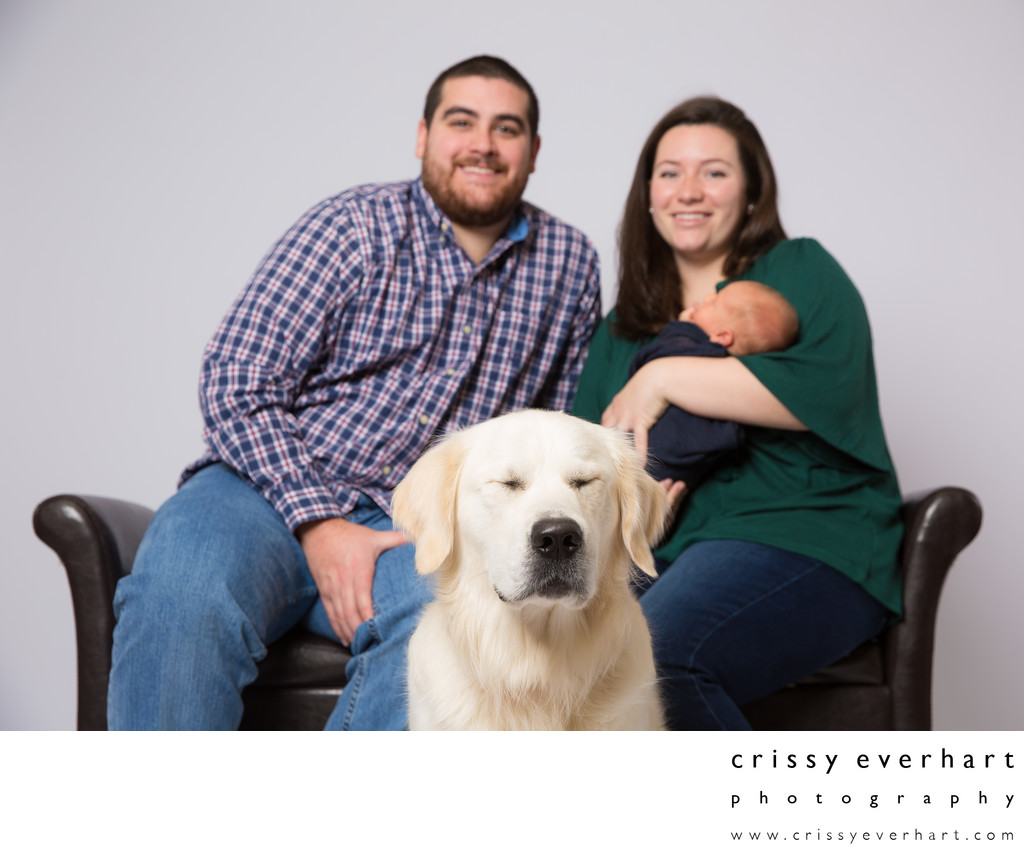 Newborn and Family Photos with Pets - Chester County