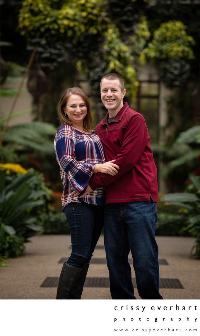 Engaged Couple at Longwood Gardens in Kennett Square