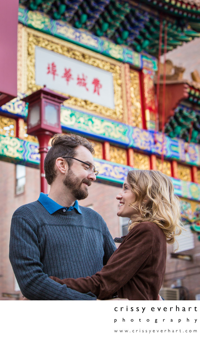 Chinatown Philadelphia Engagement Session