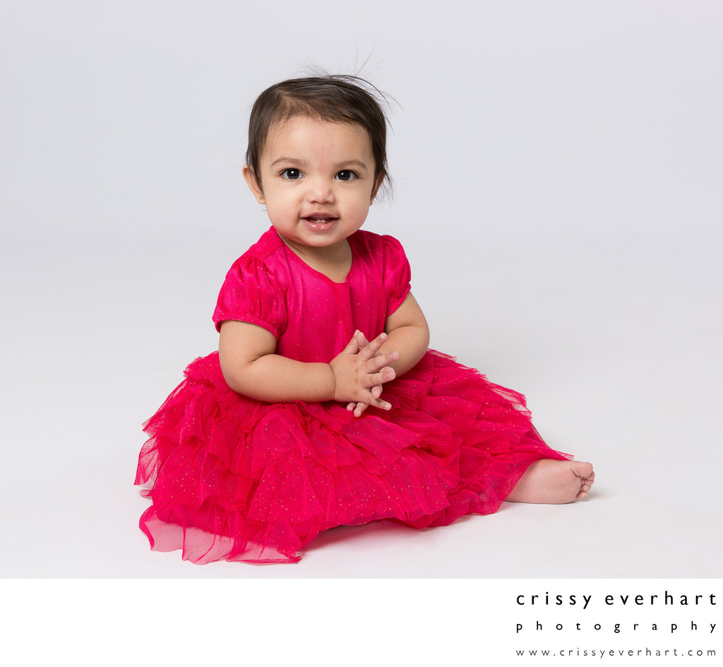 One Year Old Birthday Photos in Studio
