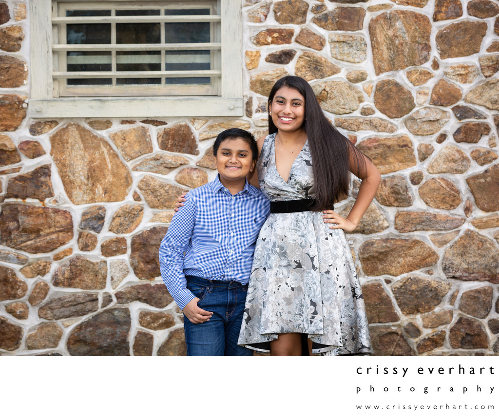 Sibling Portraits with Style - Chester County Studio