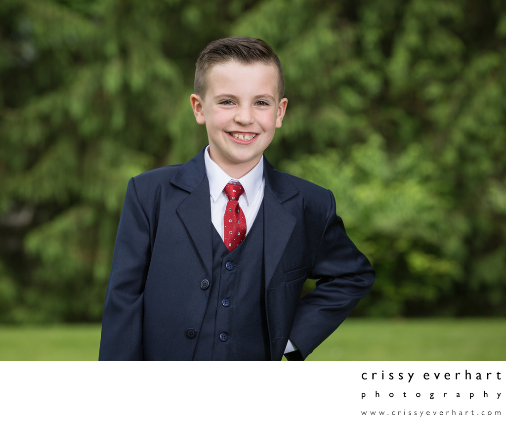 First Holy Communion Photos at Outdoor Portrait Studio
