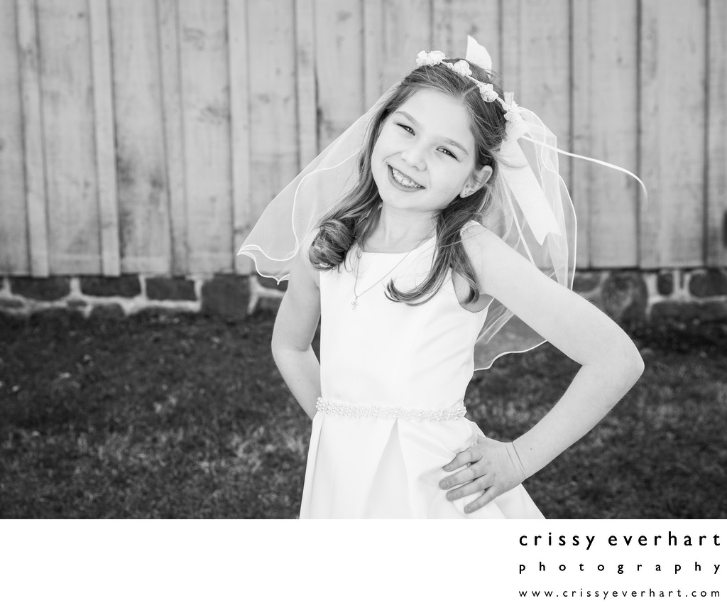 Black and White Portraits - First Holy Communion