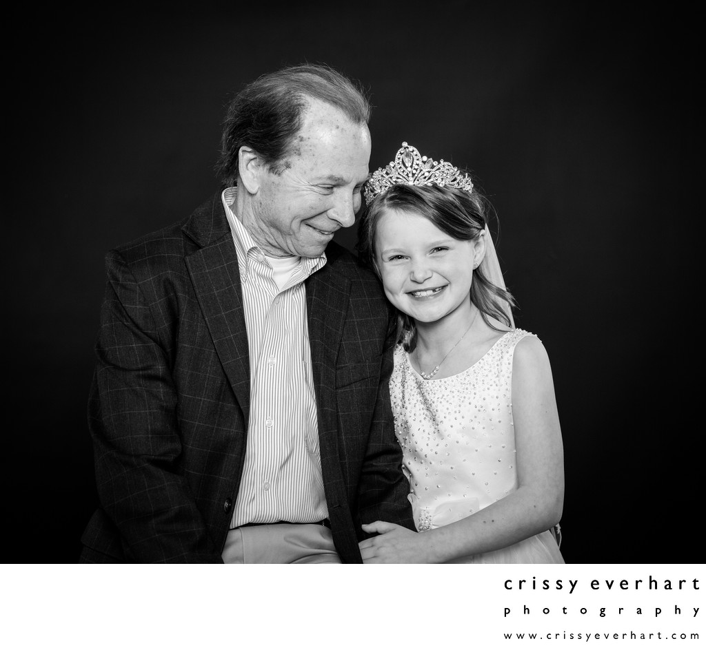 First Holy Communion Photos with  Grandfather