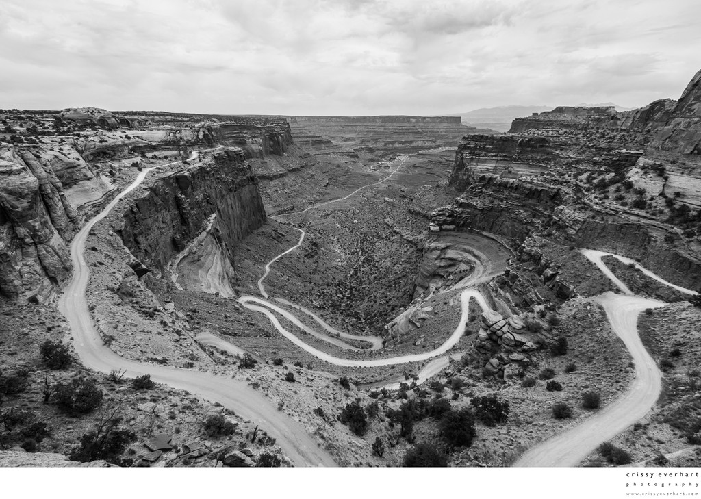 Canyonlands - Switchbacks (B&W)