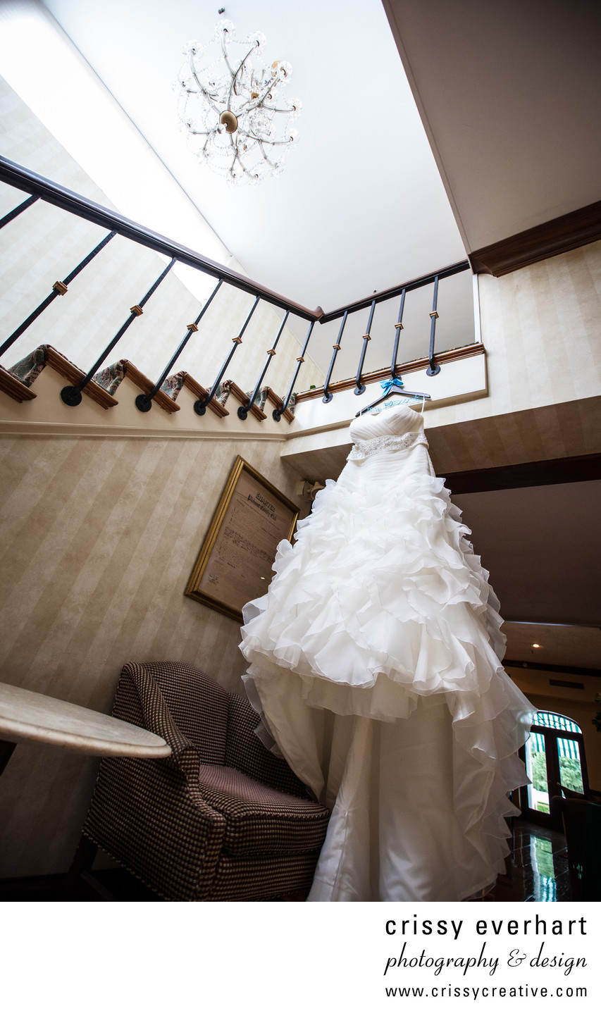 Wedding Dress Hanging - Philmont Country Club