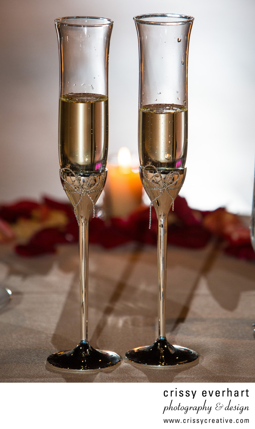 Champagne Flutes - Wedding Photography Details