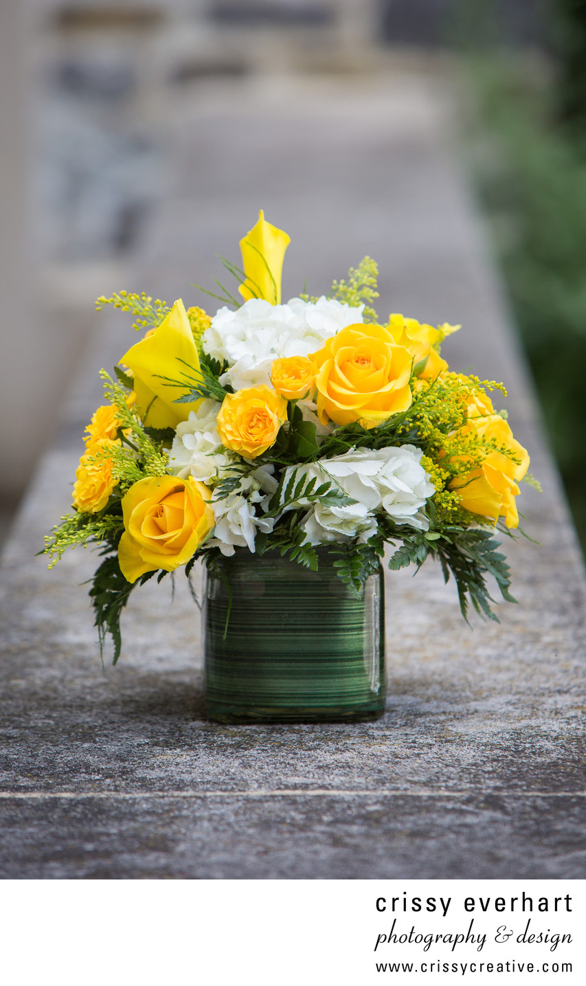 Beautiful Yellow and White Bouquet - June Wedding