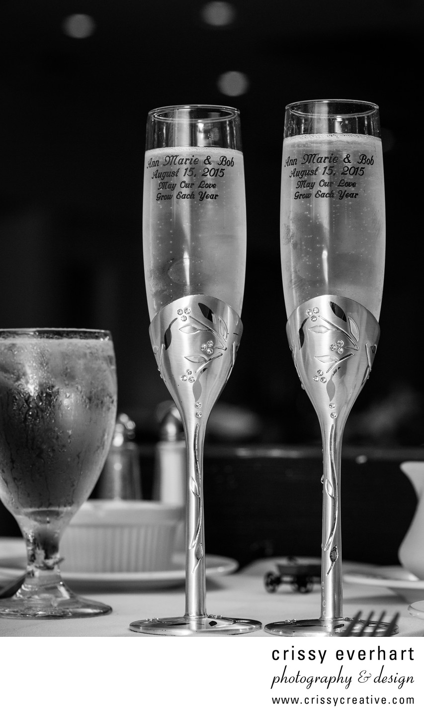 Downingtown Wedding Photographer - Champagne Flutes