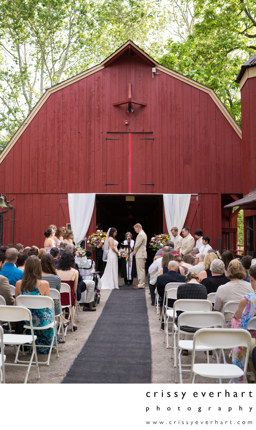 Elmwood Park Zoo Red Barn Wedding Ceremony