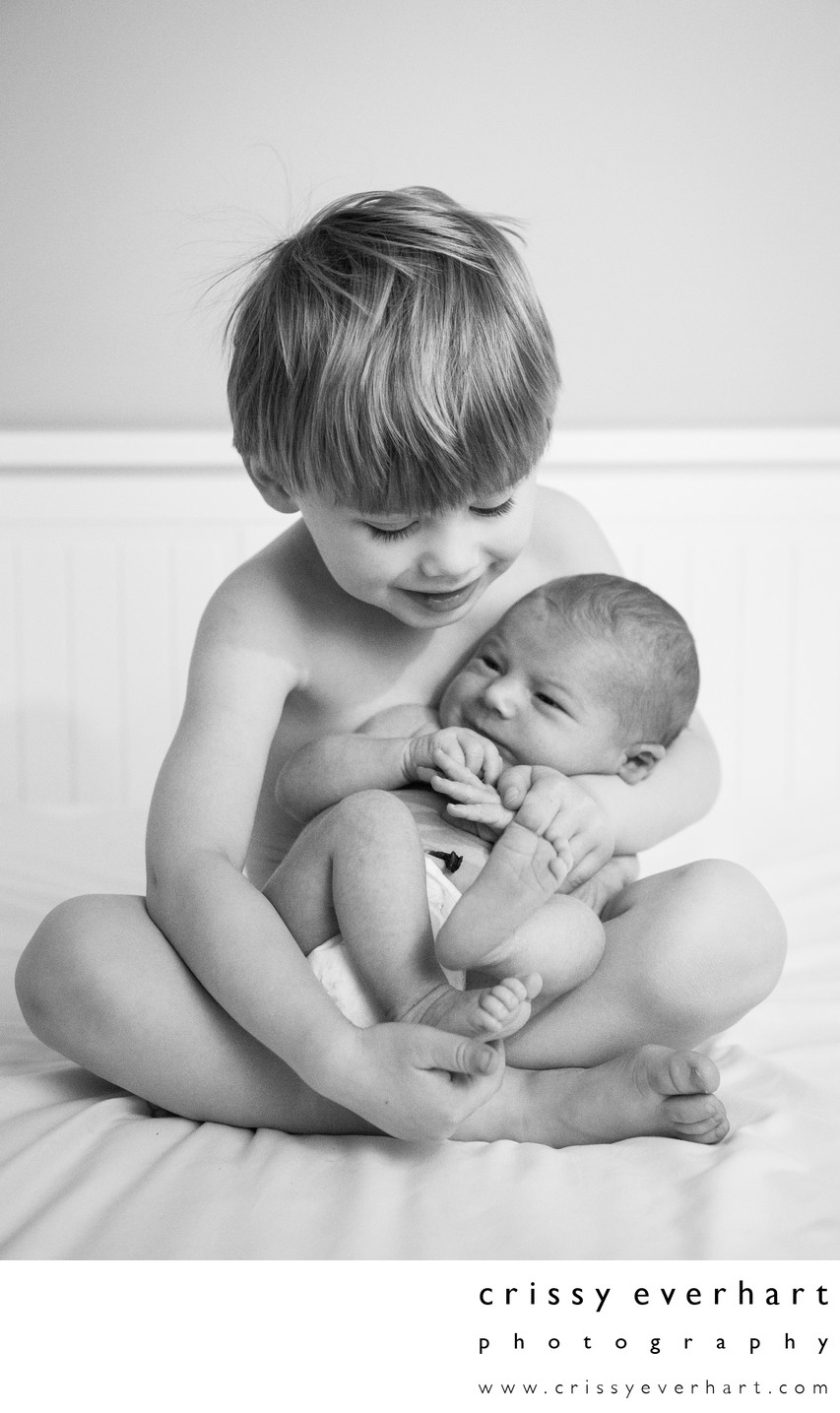 Delaware County Newborn Photographer - Brothers