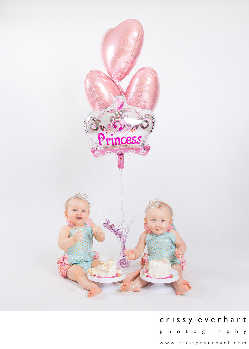 Twins First Birthday Photo Shoot in Studio