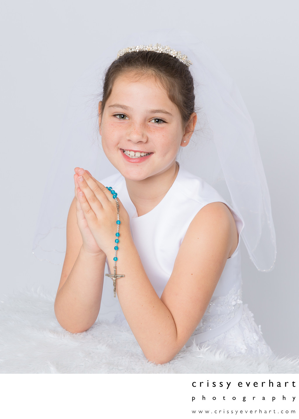 First Holy Communion Portrait Session in Chester County