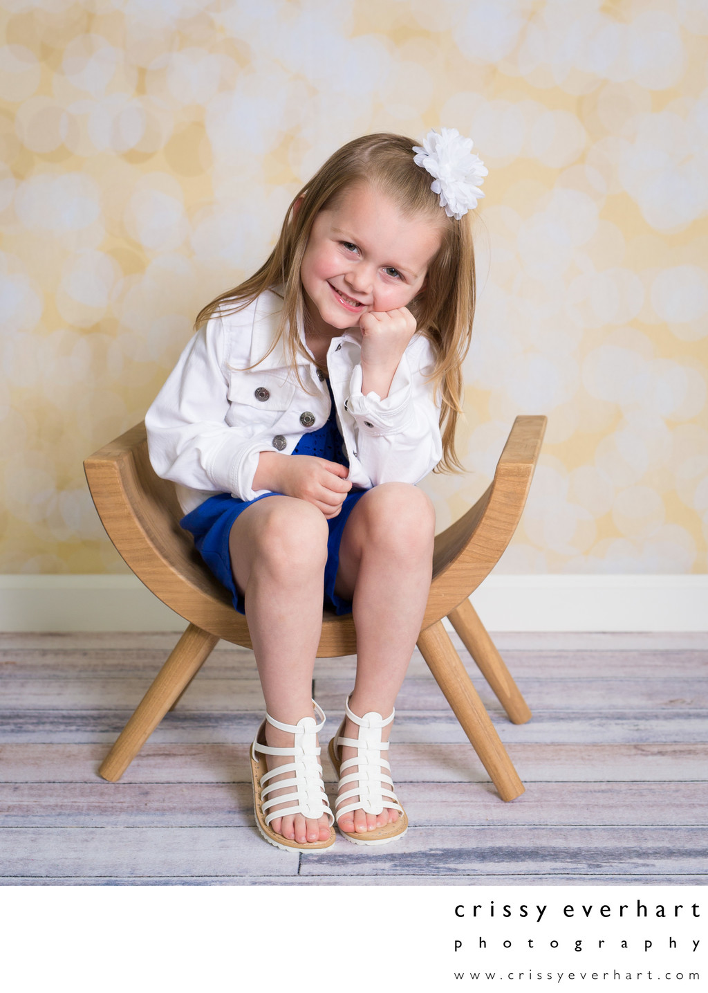 Pre-School Portraits with Props and Backdrops