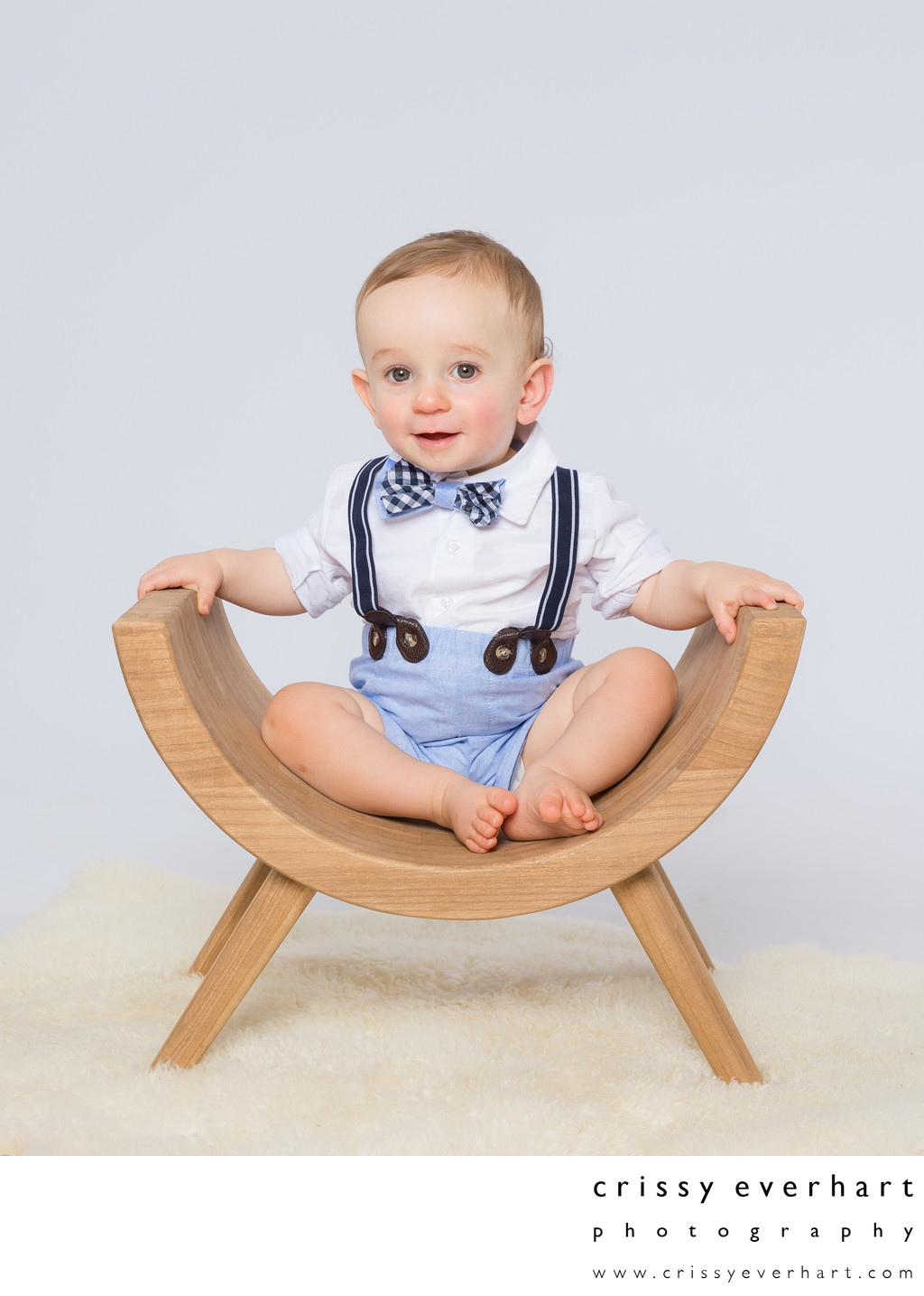First Birthday Studio Photos with Props